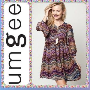 Umgee boho tassel dress